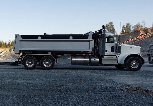 Dump truck at jobsite