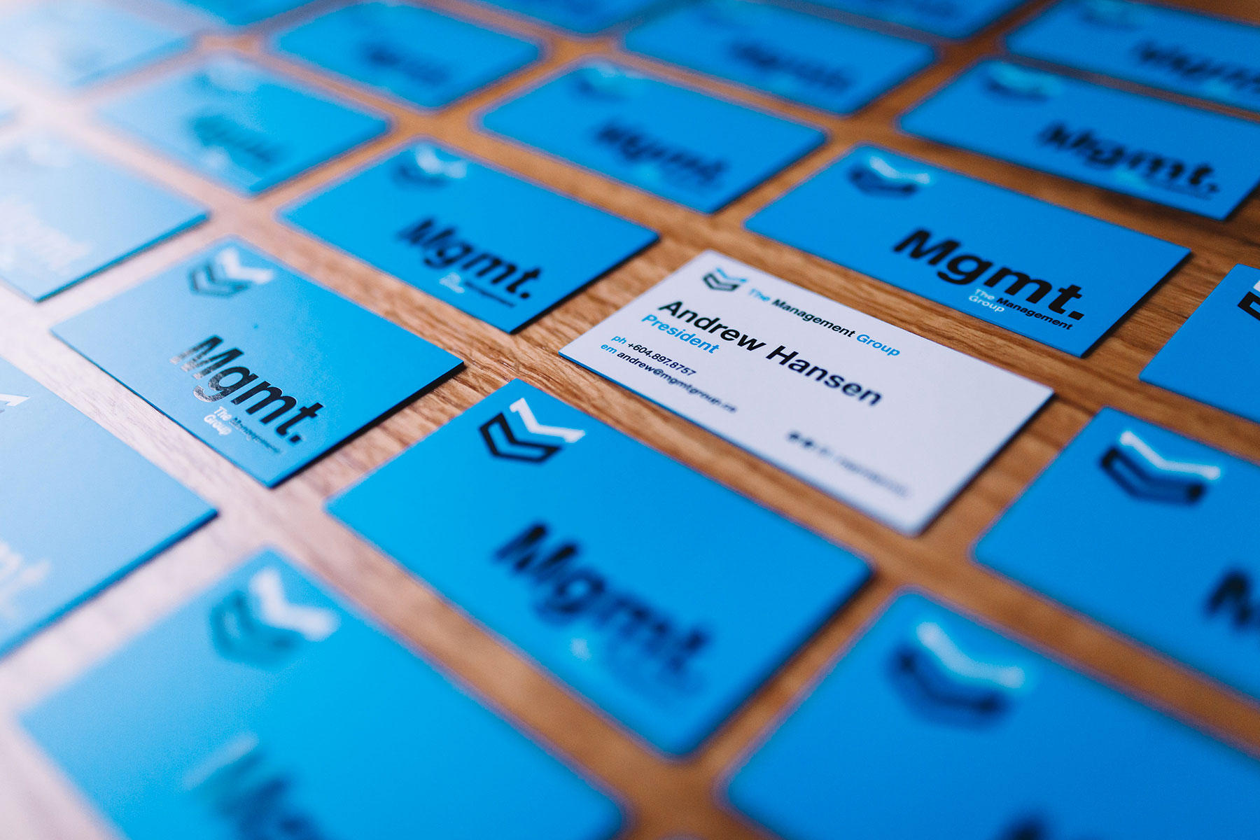 The Management Group Business Cards
