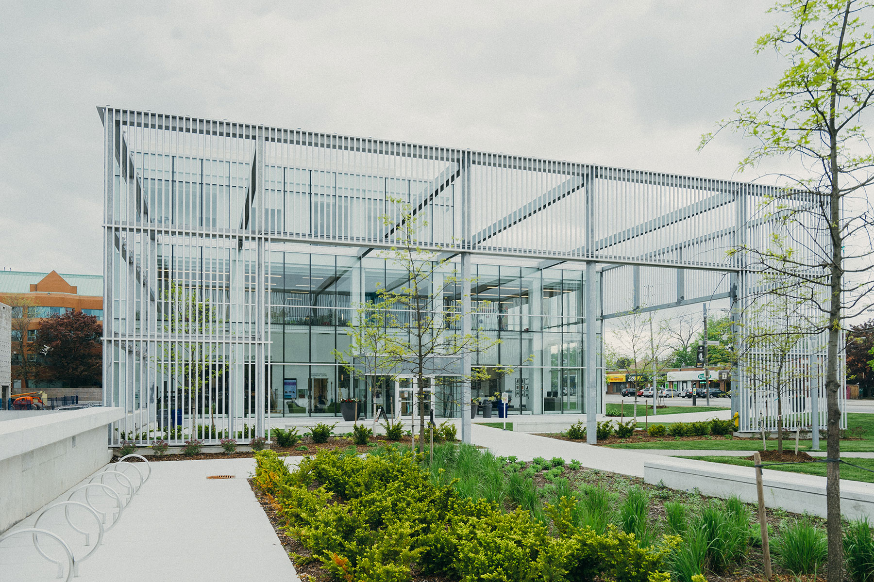 Bright, open office building